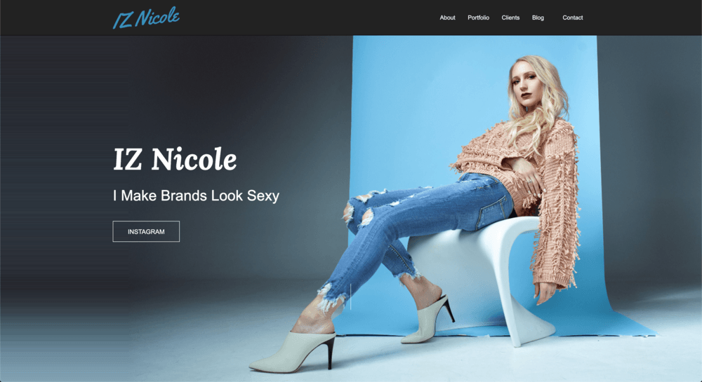 IZ Nicole Model Website