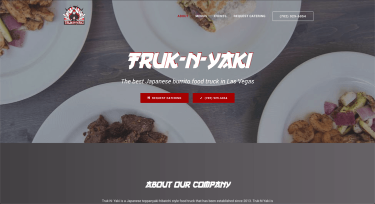 Truk-n-Yaki First WordPress Website
